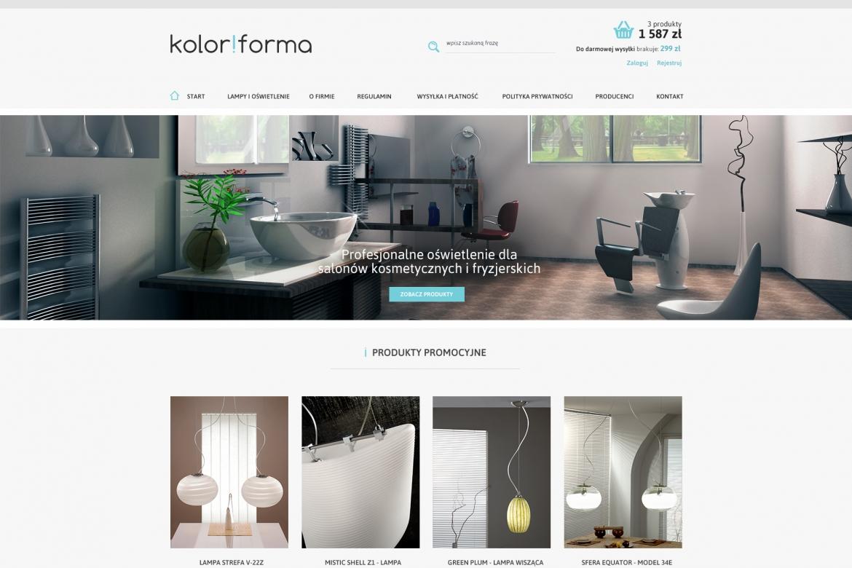 Sklep internetowy z lampami - projekt