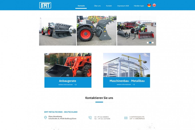 dmt - projekt strony dla Niemieckiego klienta