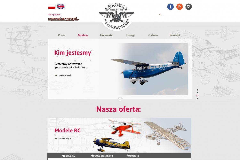 Strona internetowa Firmy z modelami