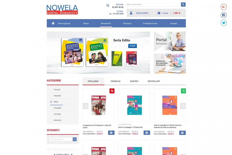 nowela.pl - projekt sklepu internetowego