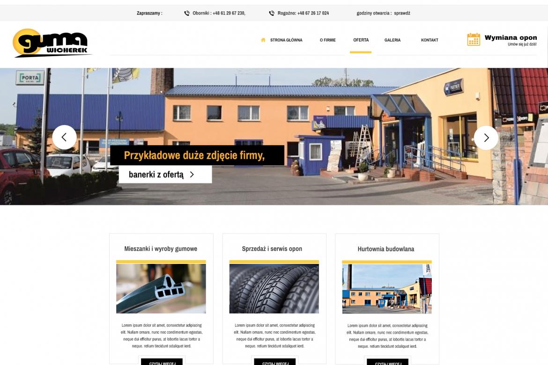 Gumawicherek - nowa strona internetowa - projekt