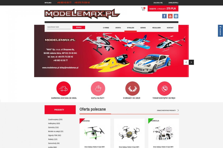 Sklep internetowy z modelami - modelemax.pl