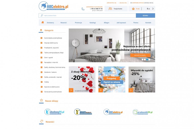 Projekt sklepu internetowego abcelektro.pl